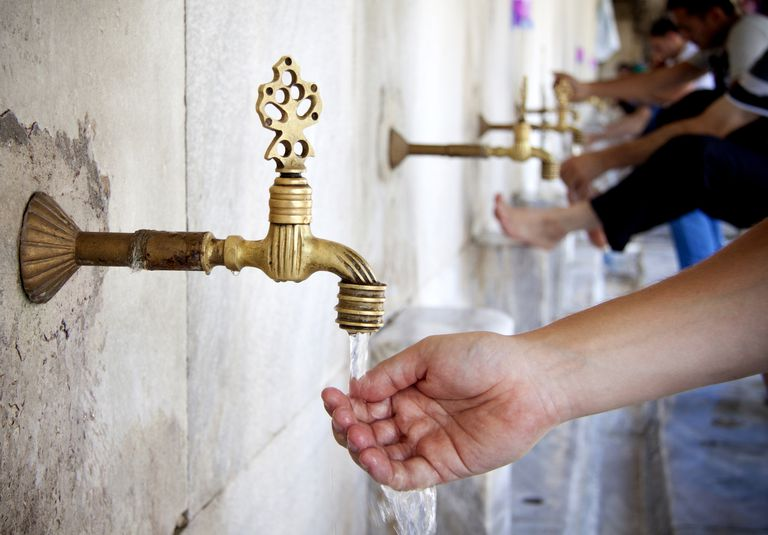 Wudu or Ablutions for Islamic Prayer