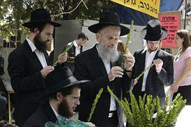 Orthodox jews at the market
