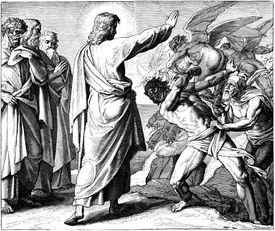 Jesus drives out a demon