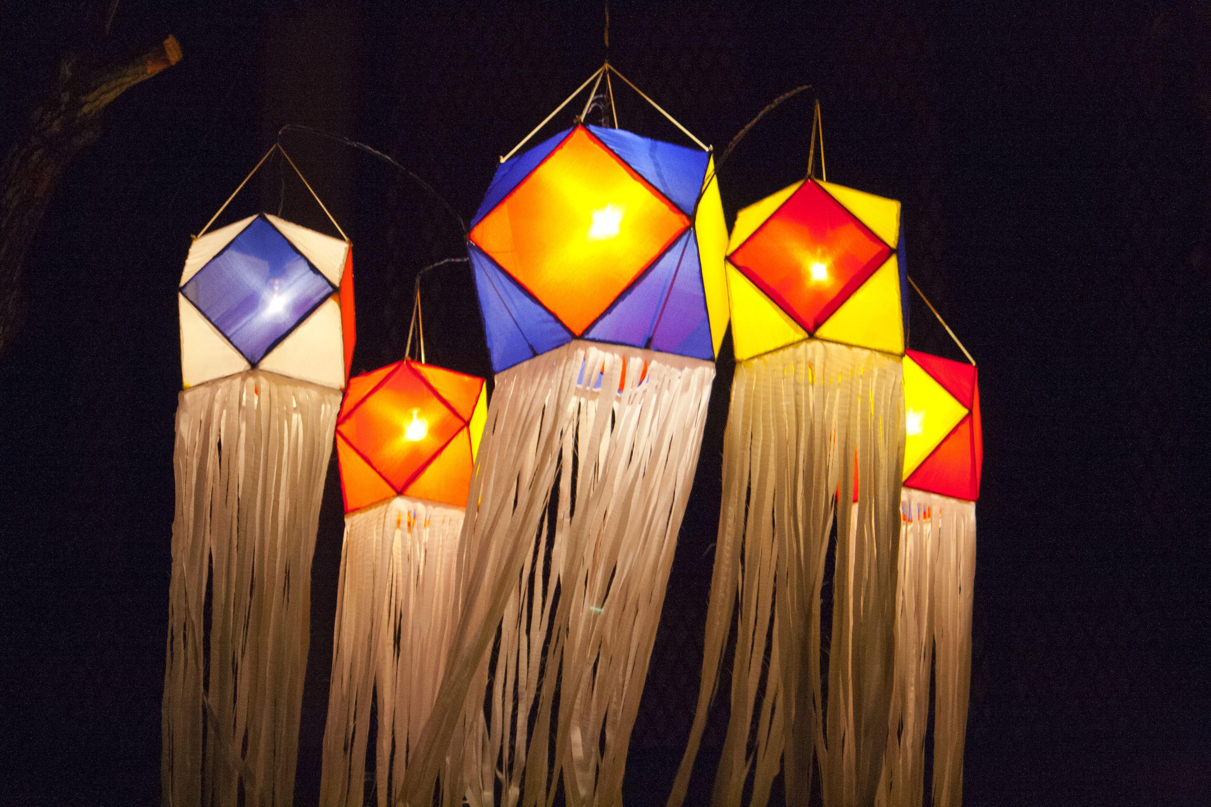 Colorful Wesak lanterns