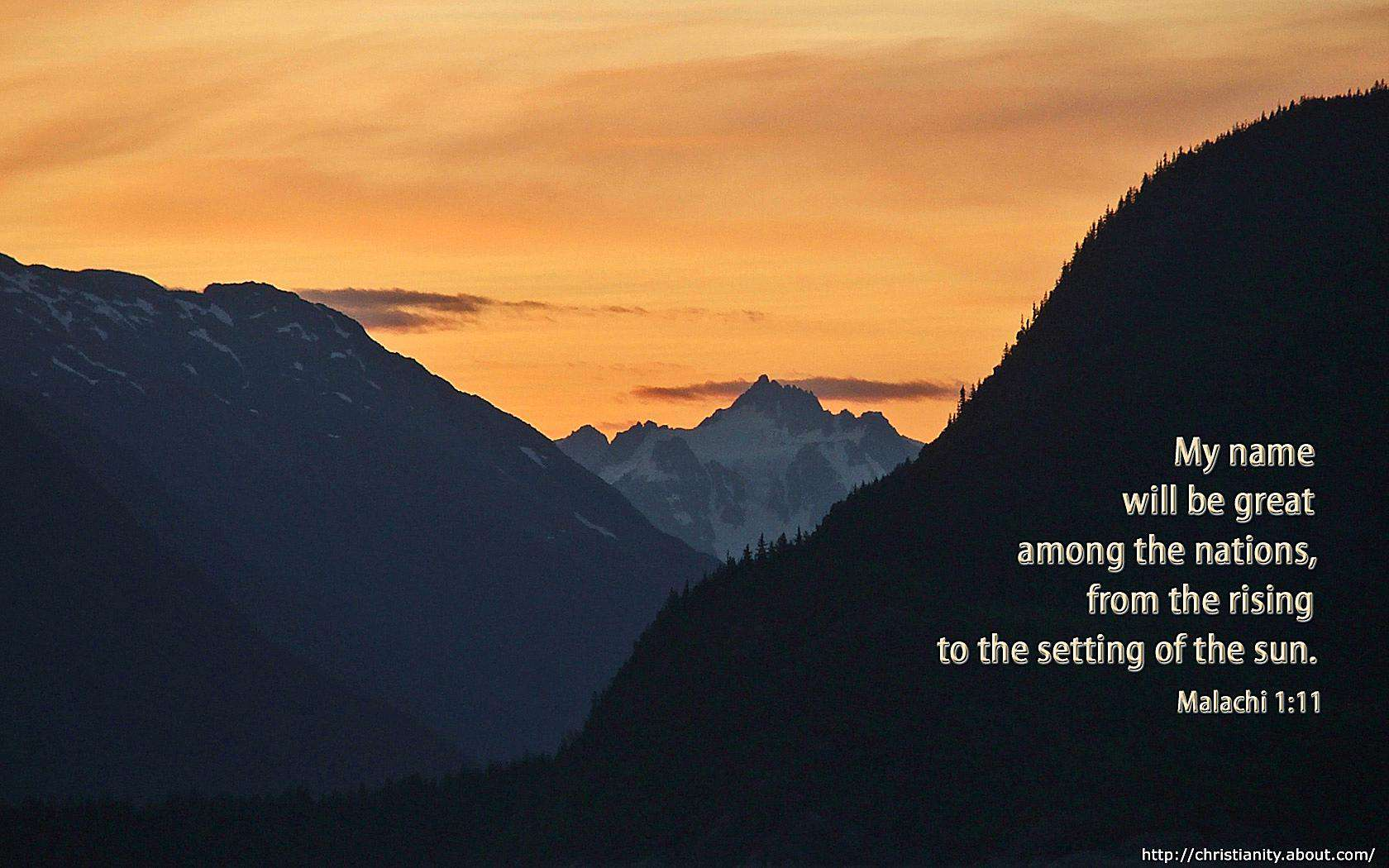 Setting of the Sun with bible verse