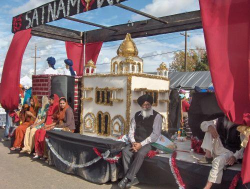 Yuba City Sikh Parade Sahibzadia Float Portraying Martyred Sons of Guru Gobind Singh