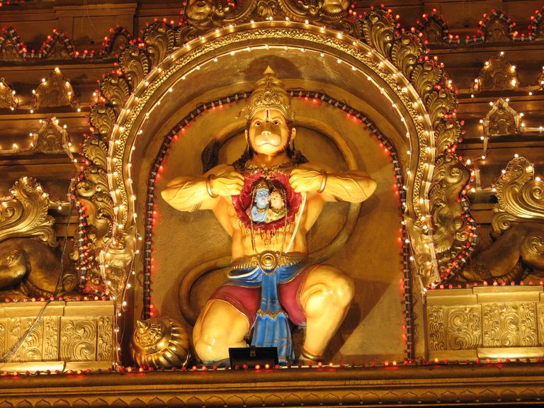 Lord Hanuman, the Hindu Monkey God