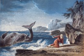Illustration of Jonah and the whale