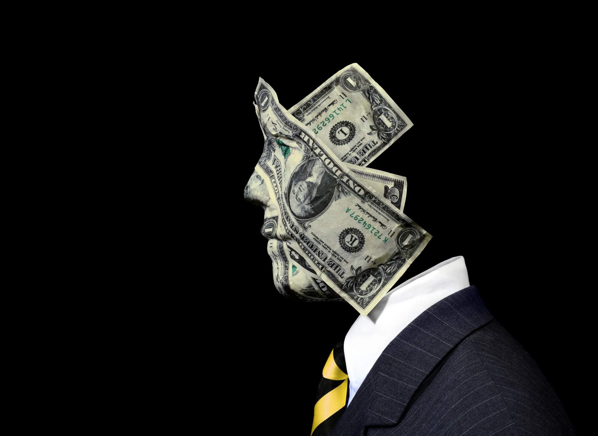 Businessman Made of Money