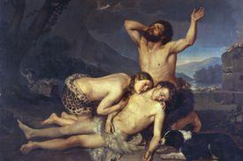 Adam and Eve Mourn Over Abel's Body, by Carlo Zatti (1809-1899).