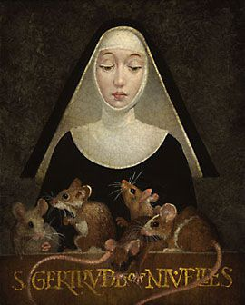 Saint Gertrude of Nivelles cats
