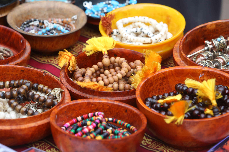 Buddhist prayer beads.