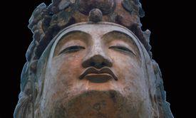 Bodhisattva, Northern Qi dynasty, ca. 550--60, Shanxi Province, China. Metropolitan Museum of Art, New York.