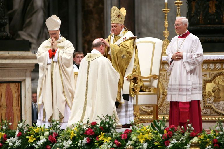 Pope Benedict XVI ordains a bishop
