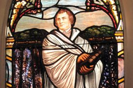 Martin Luther in stained glass