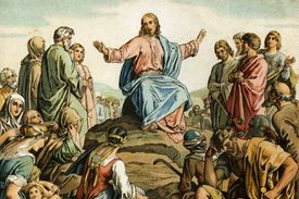 Illustration of Jesus's Sermon on the Mount