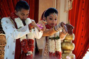 Hindu wedding ritual.