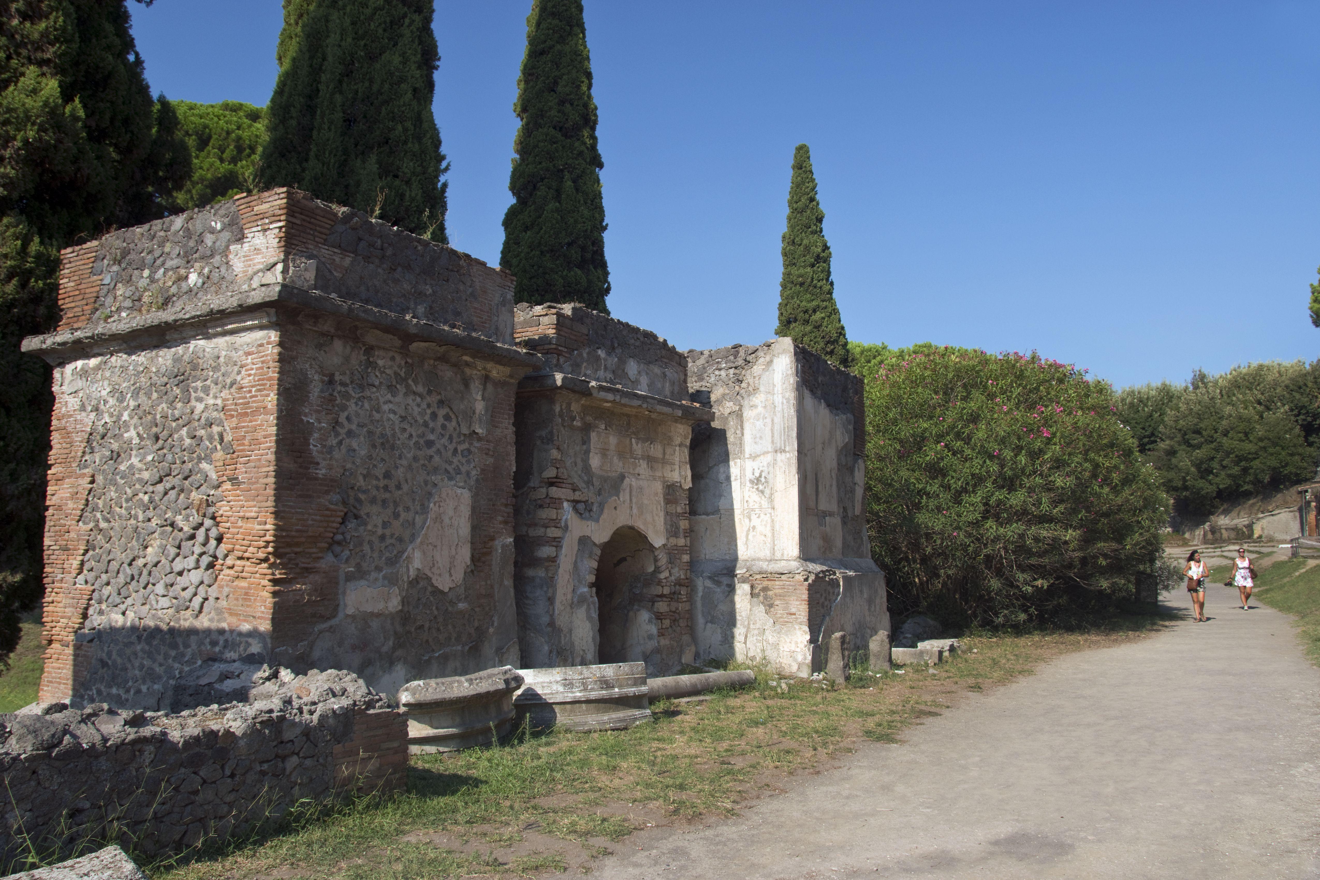 The Street of Tombs, Pompeii, Italy