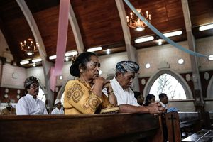 Locals Celebrate Christmas In One Of Bali's Oldest Christian Villages