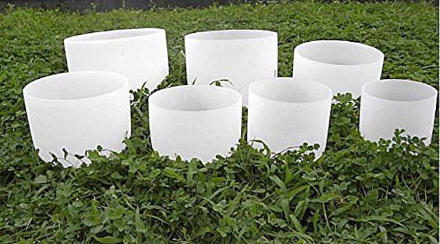 Set of Crystal Singing Bowls