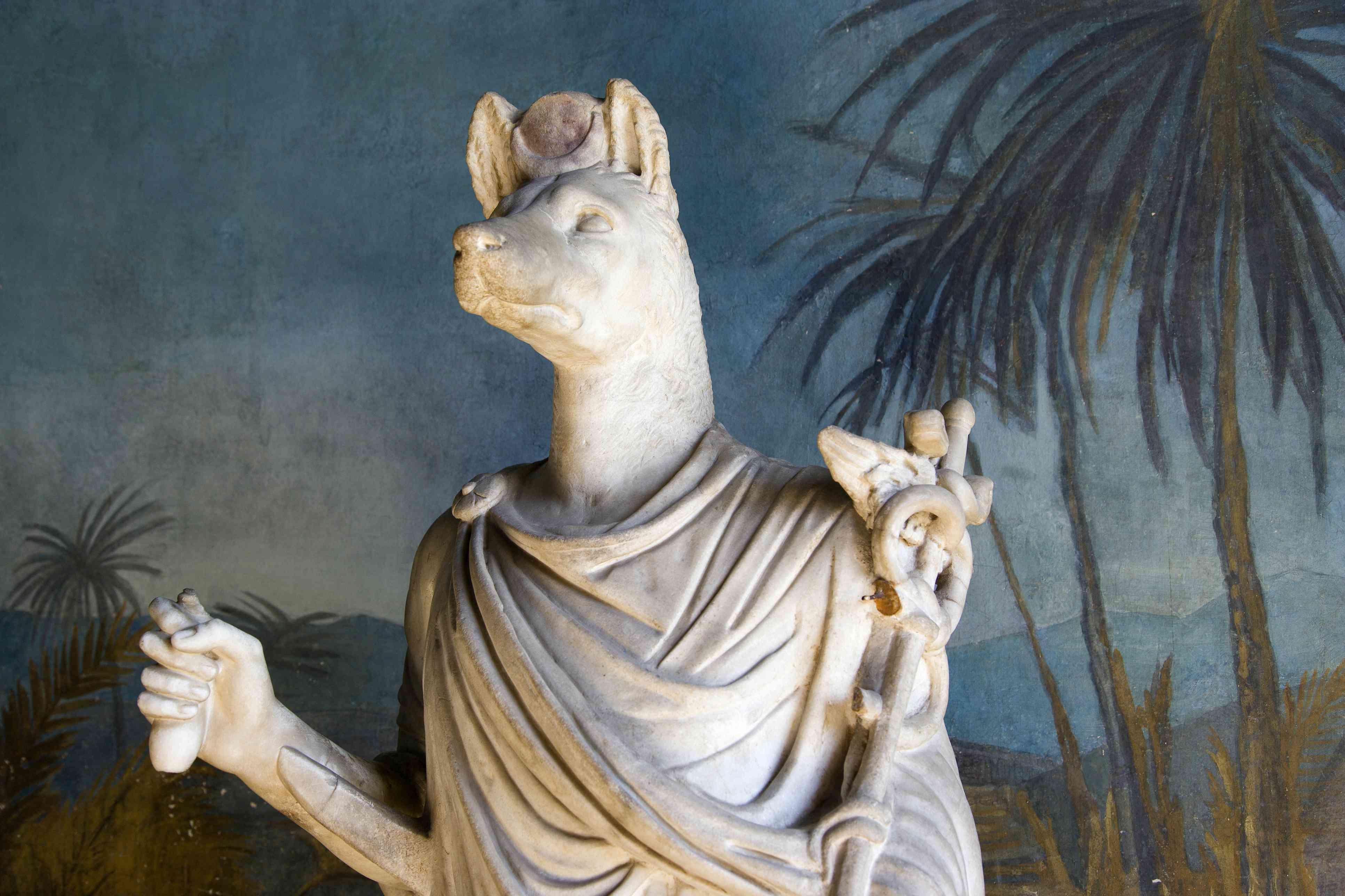 Statue of Anubis at Vatican Museum