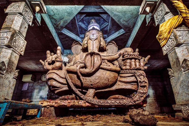 Hindu God, Ganesha at a temple near Bangalore