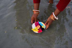 Devotee at Gangasagar Mela
