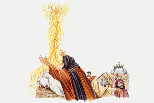 Elijah and false prophets of Baal