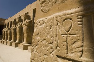 Detail of Sculpture at Temple of Ramesses III