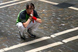Runner praying