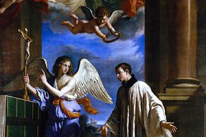 """The painting """"The Vocation of Saint Aloysius Gonzaga"""" by Guercino, ca. 1650"""