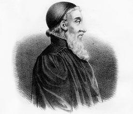 A portrait of Menno Simons