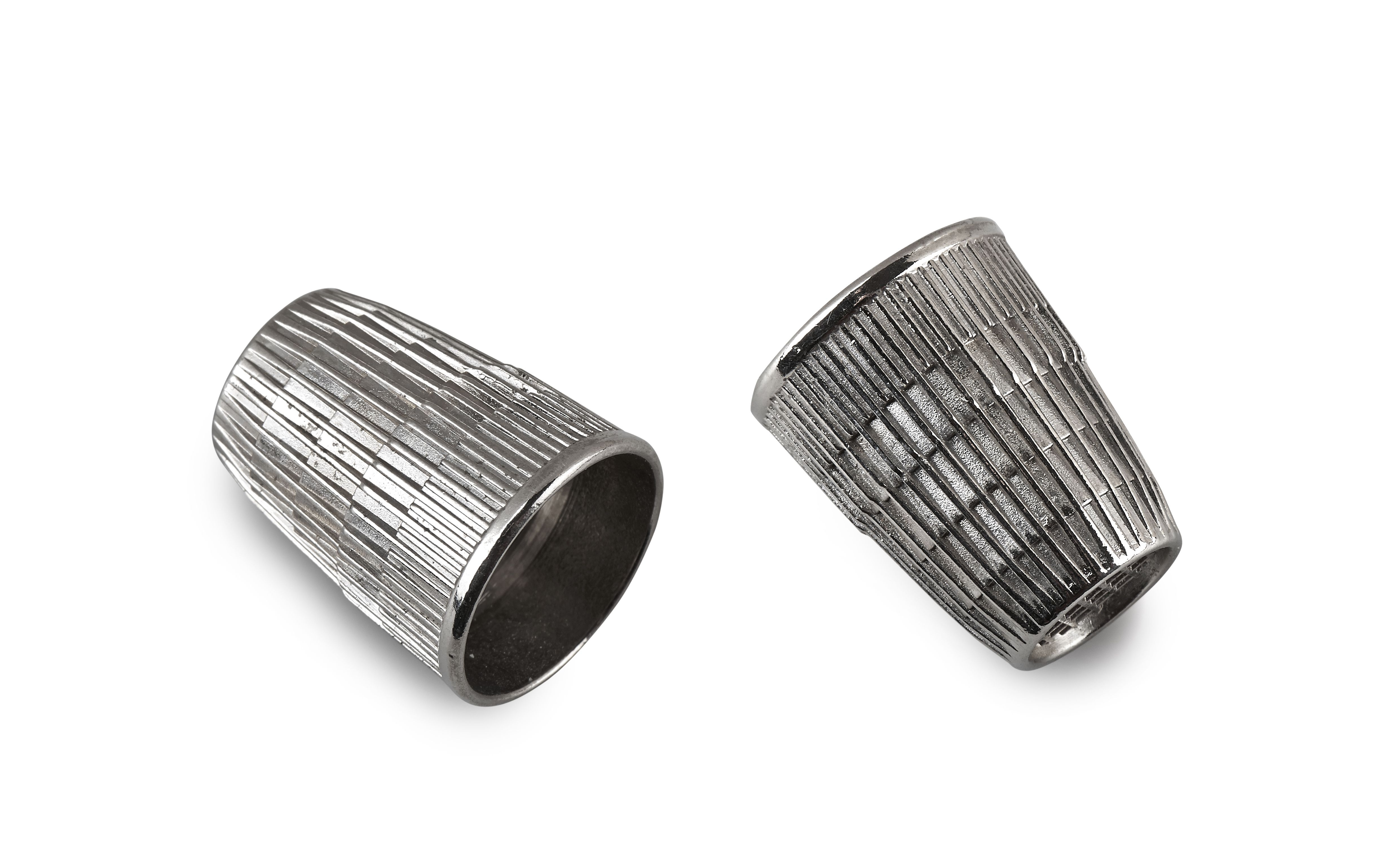 vintage and used silver thimble