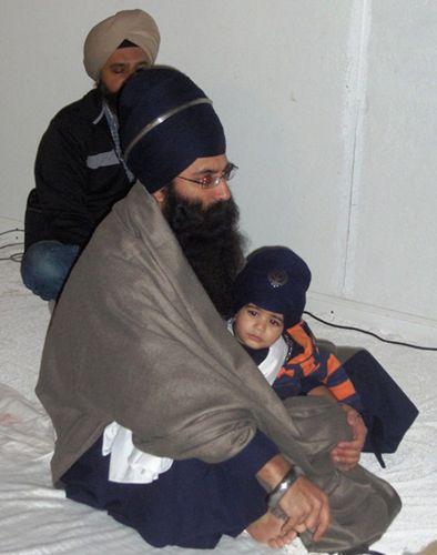 Sikh Toddler Wearing Turban