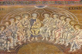 Pentecost Mosiac, Monreale Basilica in Sicily