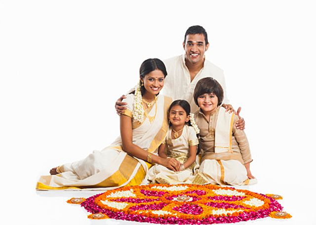Celebrating Onam with Family