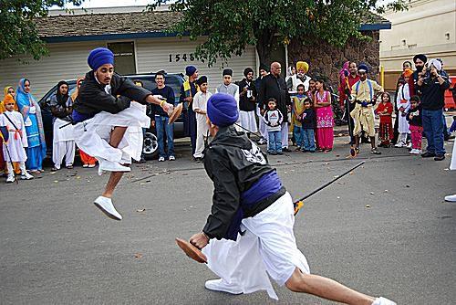 Yuba City Annual Sikh Parade Gatka Demonstration