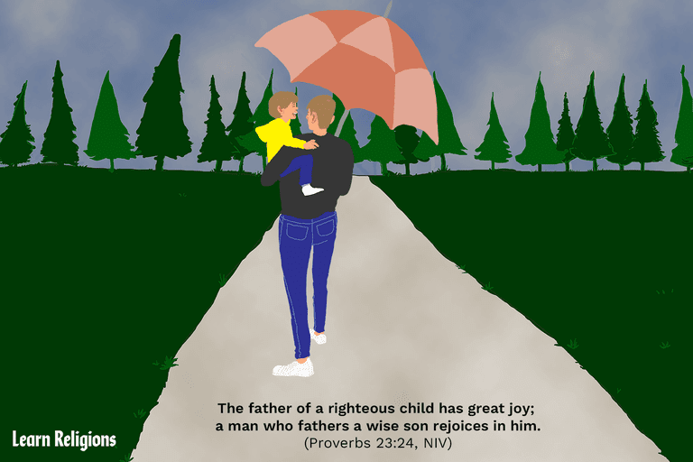 The father of a righteous child has great joy; a man who fathers a wise son rejoices in him. (Proverbs 23:24, NIV)