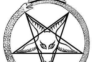 Crown Baphomet - Seal of Satan