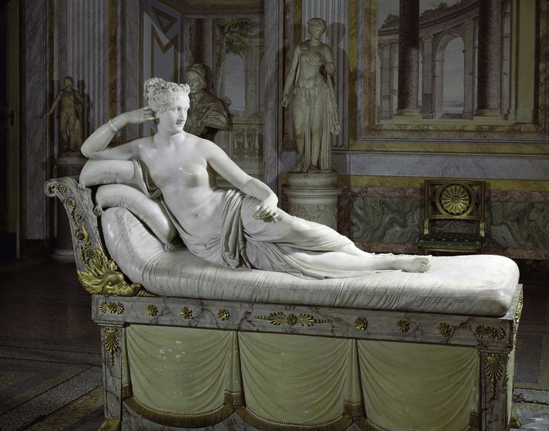 Pauline Bonaparte as Venus by Antonio Canova