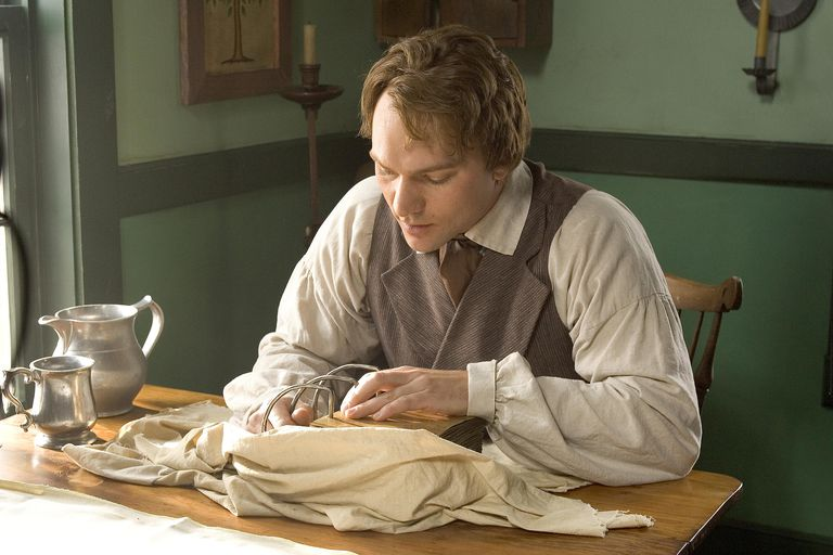 Joseph Smith actor translating Book of Mormon