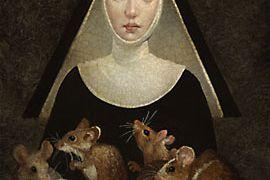 Saint Gertrude of Nivelles cats