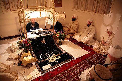 Reading Guru Granth Sahib