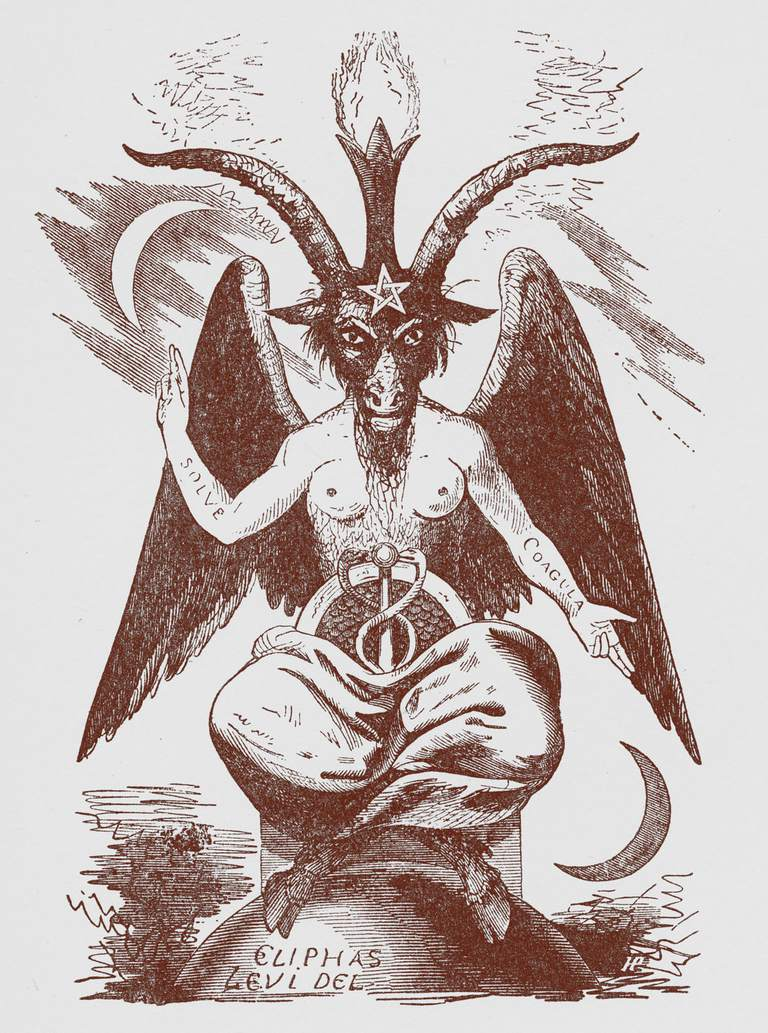 An illustration of Baphomet