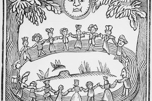Illustration Of A Witch Dance