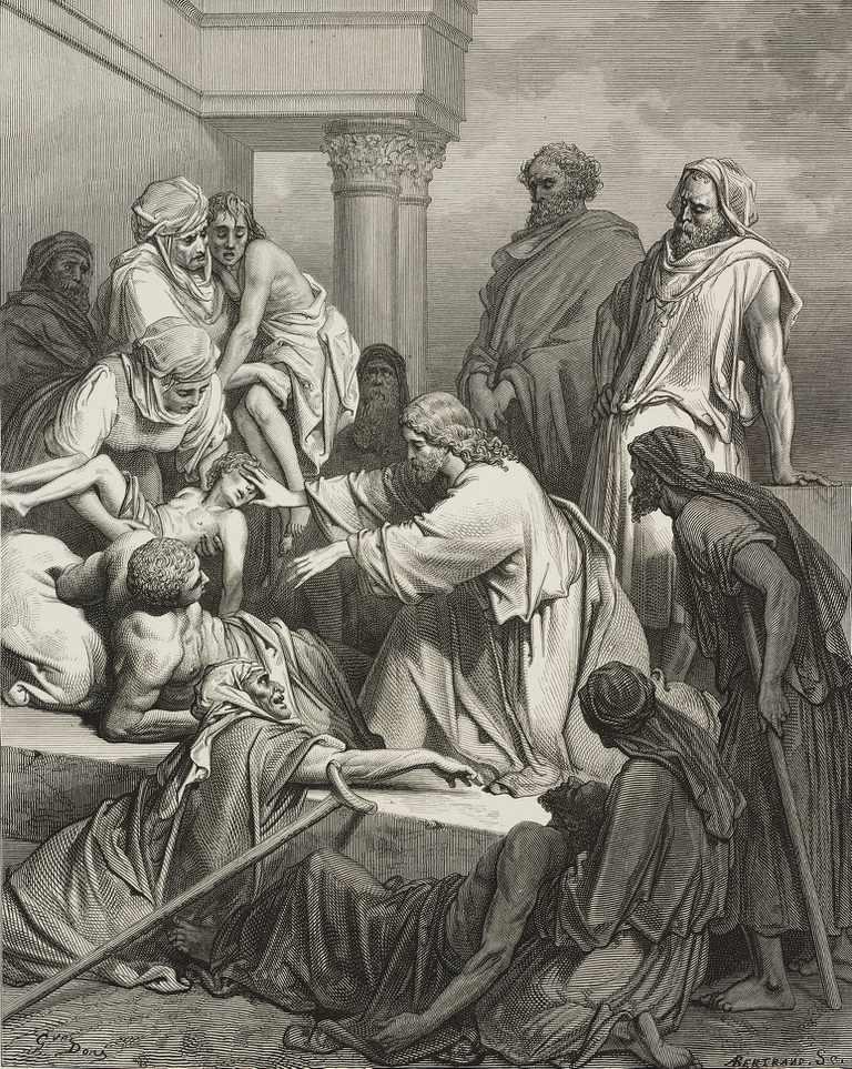 Jesus heals a Boy