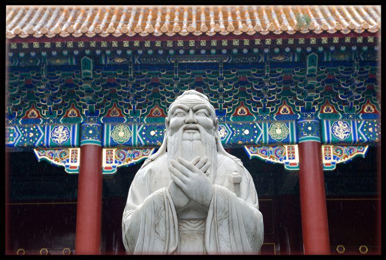 Confucius statue in Beijing, China