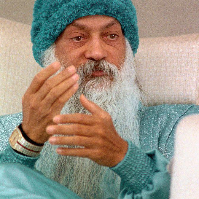 Bhagwan Shree Rajneesh at Press Conference