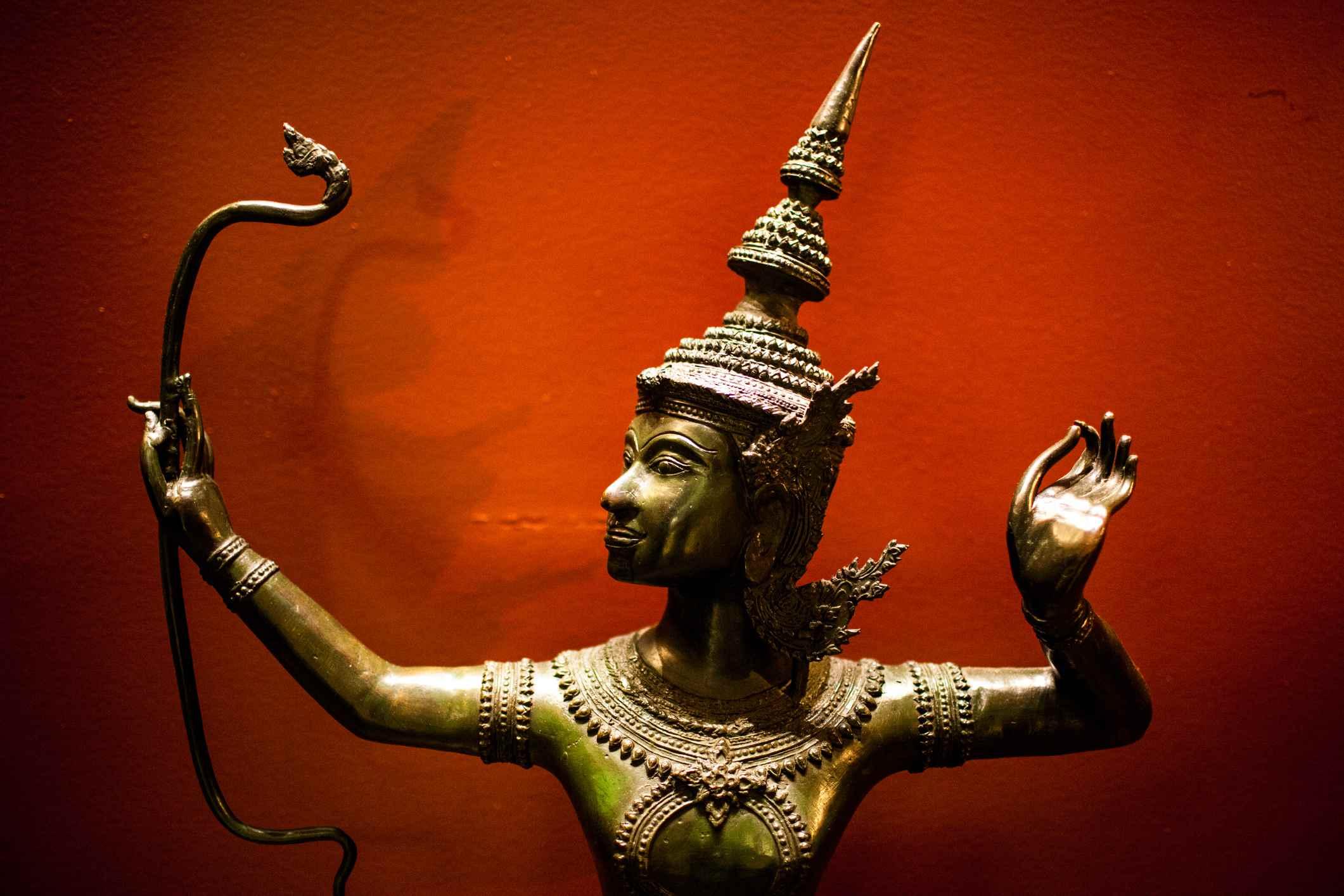 Statue depicting Lord Rama, the perfect man, an avatar of Vishnu