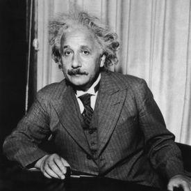 A portrait of Albert Einstein