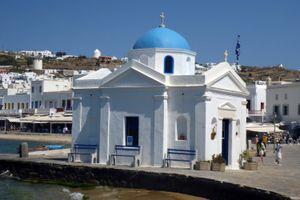 Small Greek Orthodox church in Mykonos town