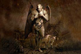 Artist rendering of a satanic figure