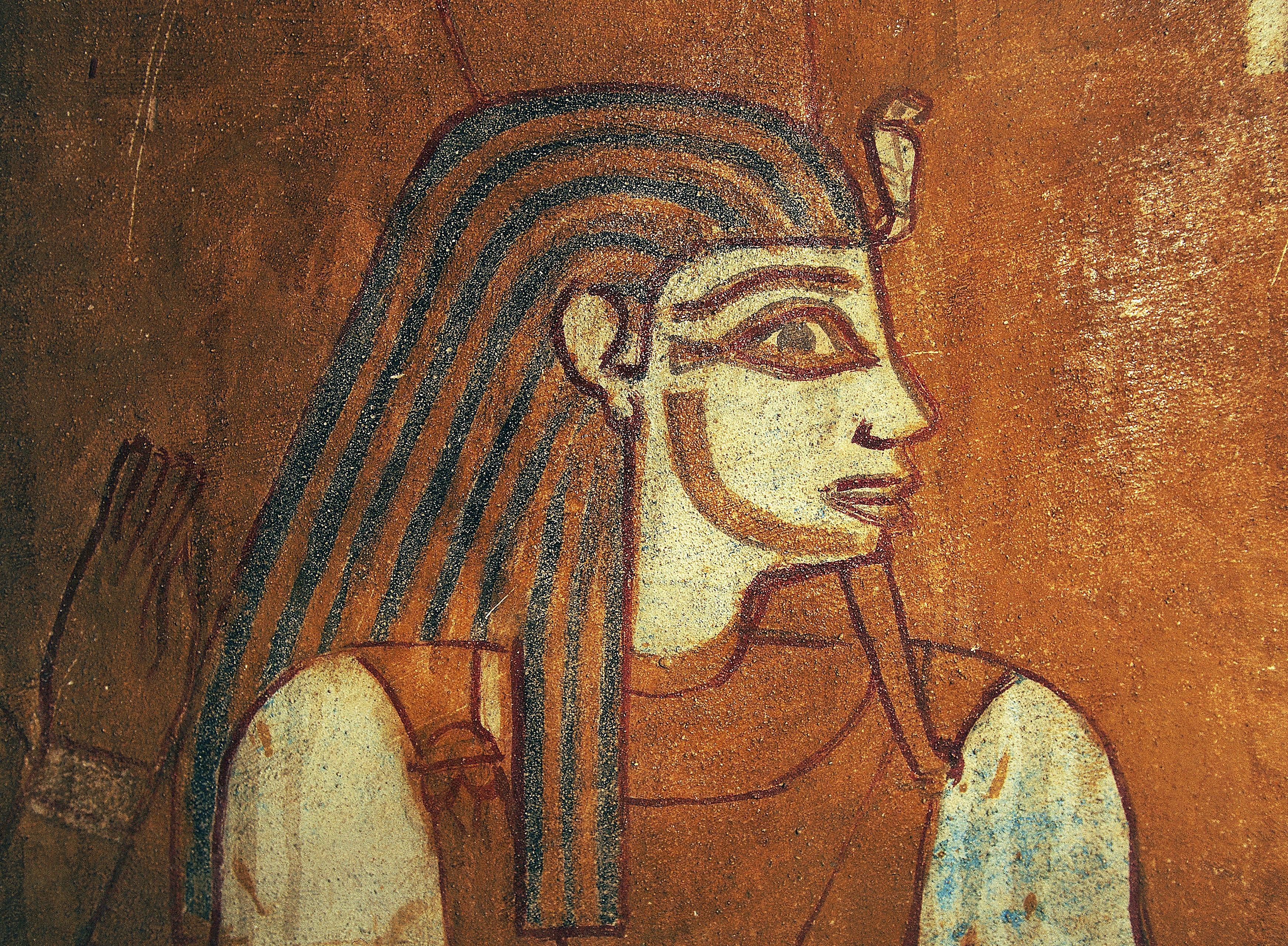 Depiction of Geb, detail of wall painting, Tomb of Baenentyu, Bahariya Oasis, Egypt, Egyptian civilization, Saite Period, Dynasty XXVI