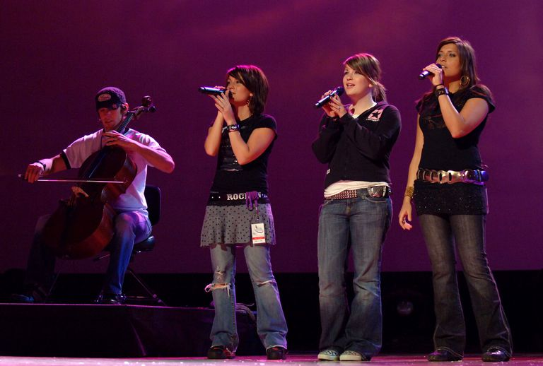 Barlowgirl rehearsing for the 37th Annual GMA Music Awards